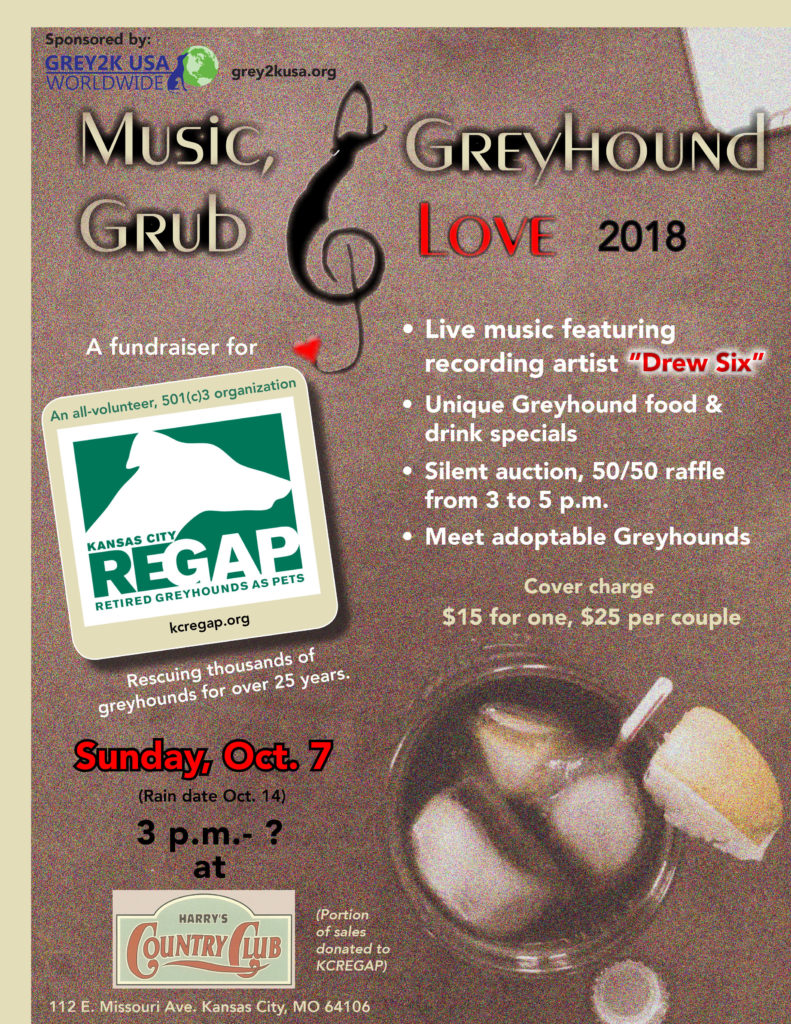 Music, Grub & Greyhound Love 2018